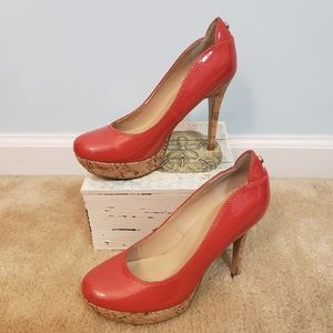 Red Guess Heels Size 6M